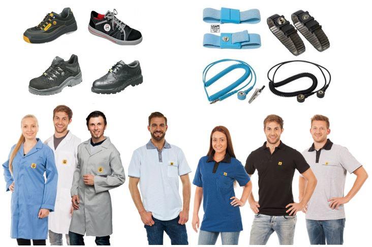 ESD Kleding en schoenen