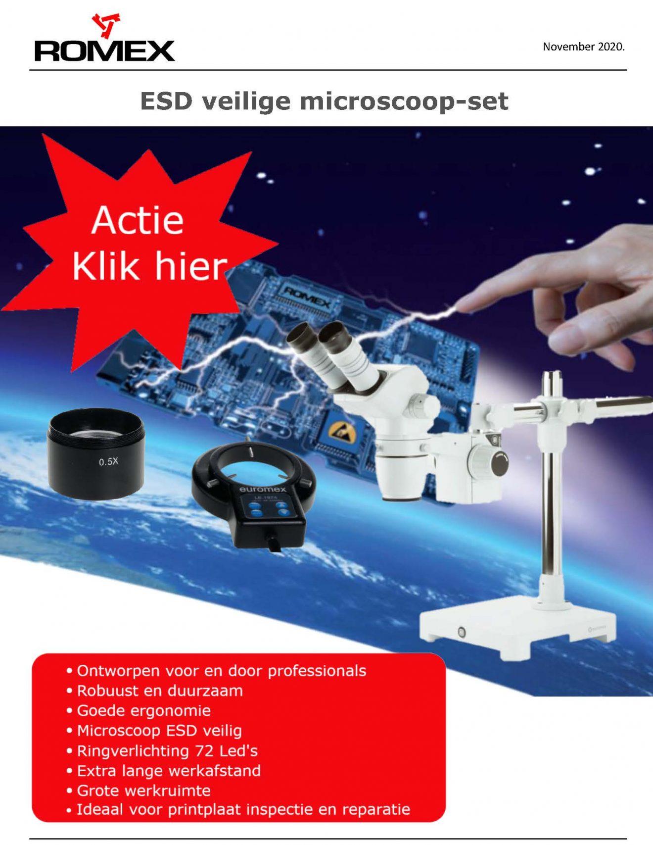 Actie set Microscopen met ringlight en lens Romex